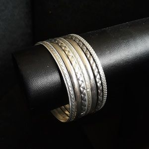 Set of 7 Boho Bangle Bracelets